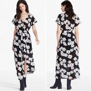 Lucky Brand Poppy Meadow Silk Dress